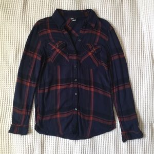 UO BDG Purple and Pink Flannel